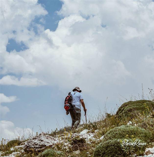 hiking hikingadventures mountain climbing white clouds ...