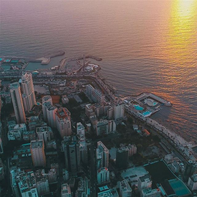 When the sun goes down beirut beirutfromtop beirutfromabove above ... (Beirut, Lebanon)