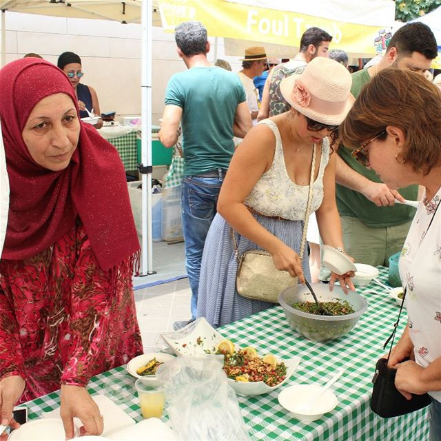 On Saturday at Souk el Tayeb in Beirut Souks….Roula Hachach, from Beirut,...
