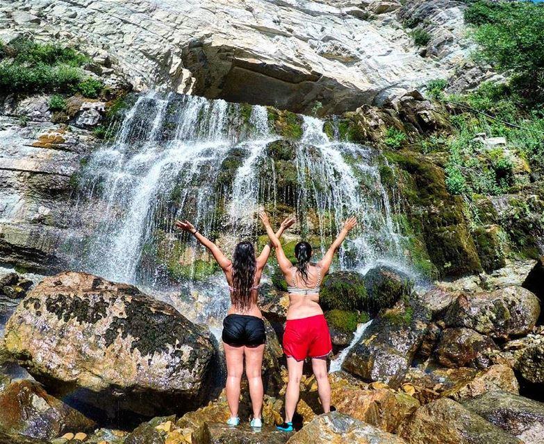 HikingMates GirlsWhoHike HikerGirl Waterfall Cave Afka Lebanon... (Afka, Mont-Liban, Lebanon)