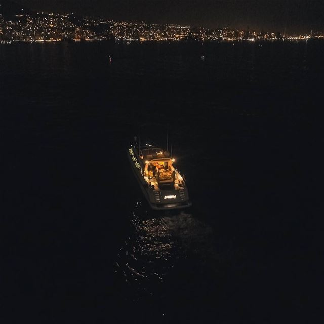 Sail through the beautiful bay of Jounieh  djiphantom4pro  djiglobal ... (Jounieh Libanon)
