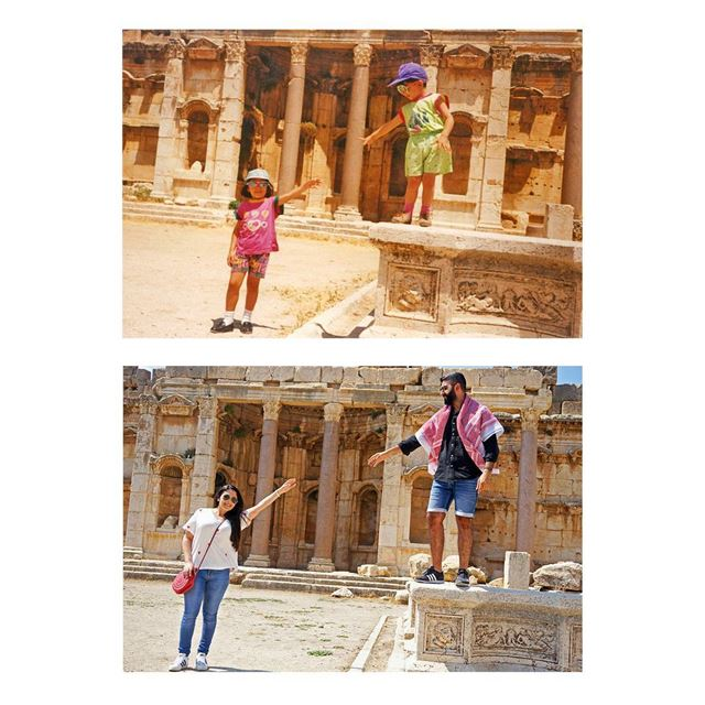 22 years later ⏳🎈Recreation of childhood memories 👫 sister brother ... (Baalbek , Roman Temple , Lebanon)