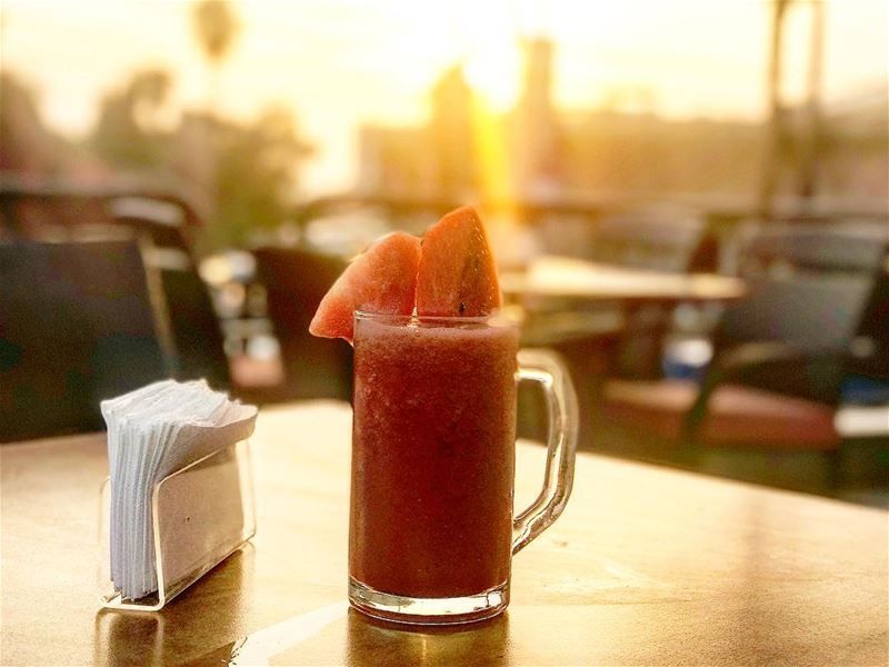 Yammi 🍉🍉 watermelon juice lebanon🇱🇧 byblos beirut tasty nice ... (Hawaii Byblos)