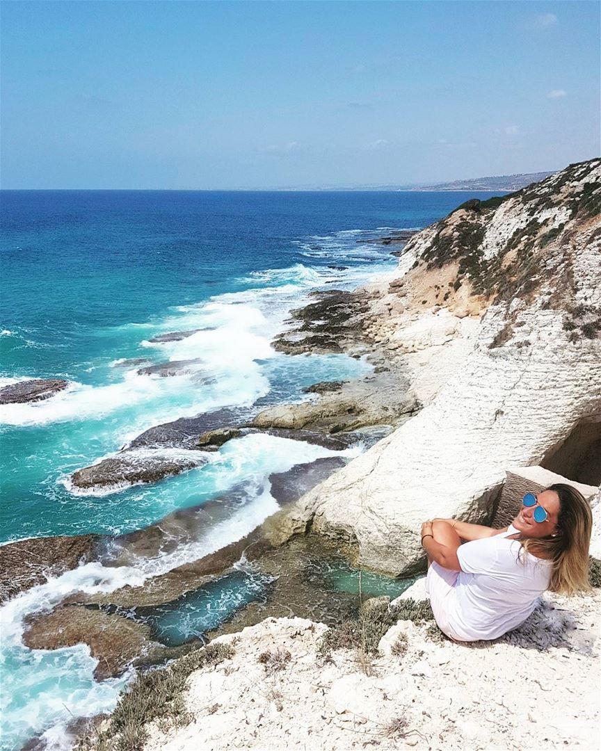 💙💙💙 Happily discovering more incredible places in Lebanon 💙💙💙... (En Nâqoûra, Liban-Sud, Lebanon)