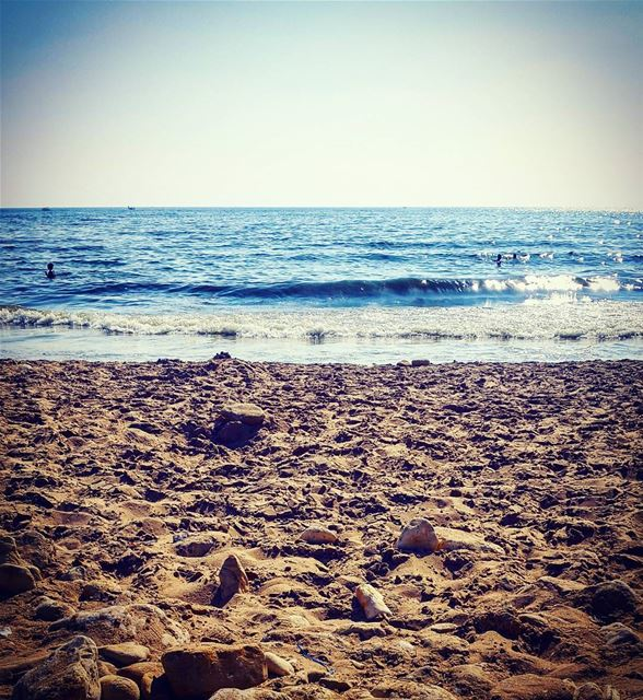 capturingthemoment sea beach salty beach breezy day sunny day summer... (Ramlet Al Bayda Public Beach)