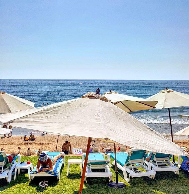 Hello 👋 Beach anyone?? 🏖 bestofleb livelovebyblos mycountrylebanon... (Ocean Blue)