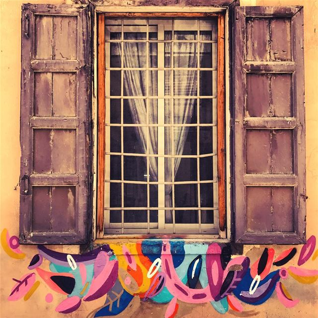 Windows of colors🌈 livelovebeirut lebanonbyalocal ... (Beirut, Lebanon)