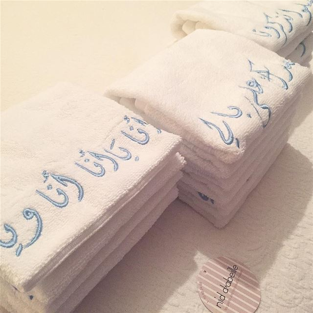 Forever in LOVE 💌 spice up your bathroom with fayrouziyeit towels 🎼...