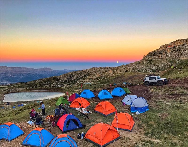 This is how we do it! ⛺️🌲 ... (Akoura, Mont-Liban, Lebanon)