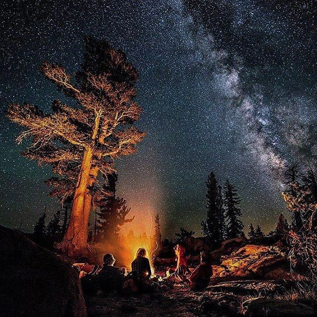 Camp fire @livelovescout @livelove.sports (Yosemite High Country)