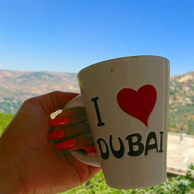 mucho love from lebanon to dubai goodmorning goodvibes sky clouds... (Chouf)