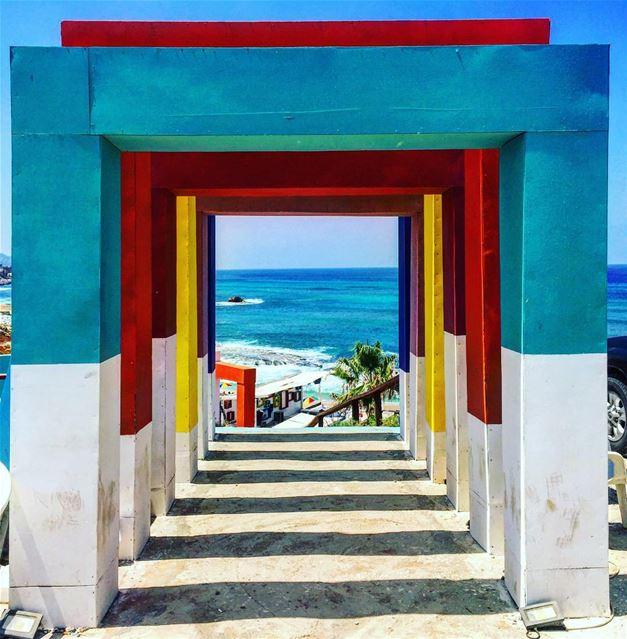 Living colors 🌈 lebanesebucketlisters lebanon batroun beirut beach ... (Eleven_Bay)