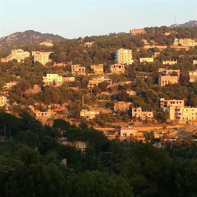 Sunset on Ghbeleh houses... liveloveghbele liveloveghebaleh ...