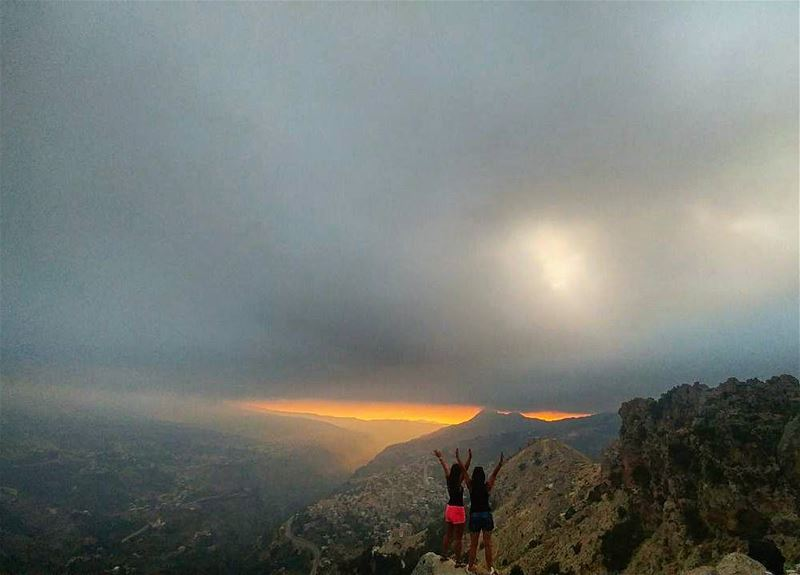 Enjoying the breathtaking view of our lebanon... sunset ... (Cedars of God)