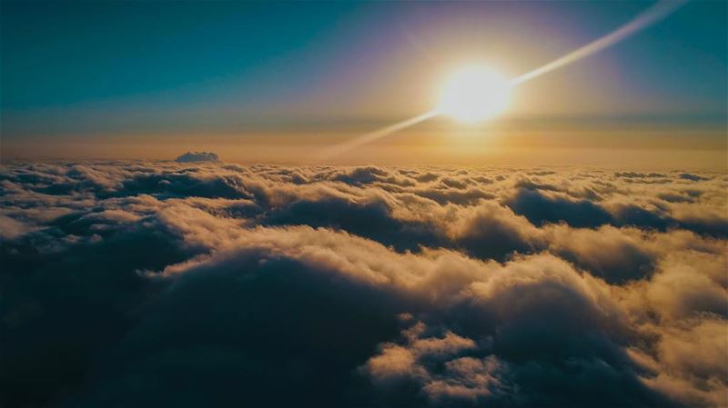That moment; Good Morning Everyone from high up there lebanon ... (Kleiat - القليعات)