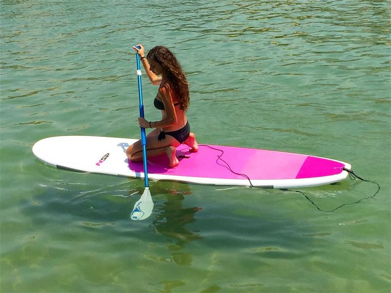 Wish you all a peaceful Monday ✨🌸... monday peace sup paddle sea ... (Surf Shack Lebanon)