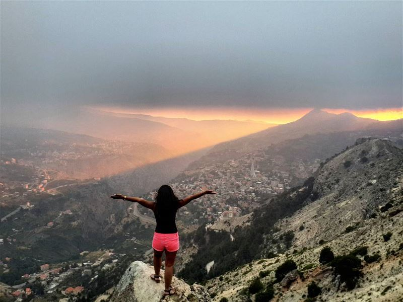 In love with this  breathtaking  view  sunset   livelovelebanon ...
