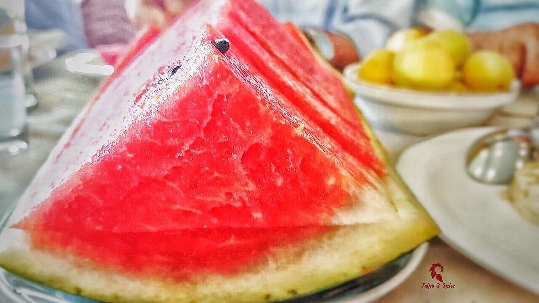 When temperature gets high...grab a watermelon 🍉 .----------------------