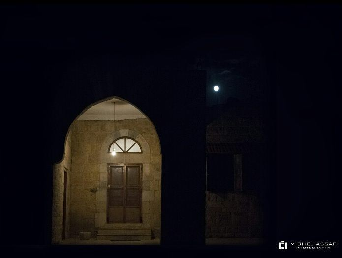 Natural Light Vs Artificial Light  fullmoon lights oldhouse...