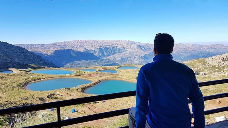 The lake and the mountains have become my landscape.⛰⛰⛰ Photo credits @zaki (Akoura, Mont-Liban, Lebanon)