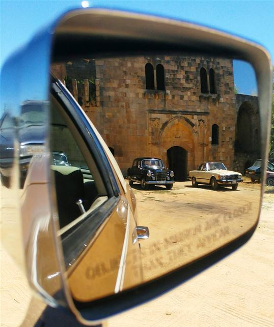 """""""Objects in mirror are cooler than they appear"""" 😎 (Baadarâne, Mont-Liban, Lebanon)"""