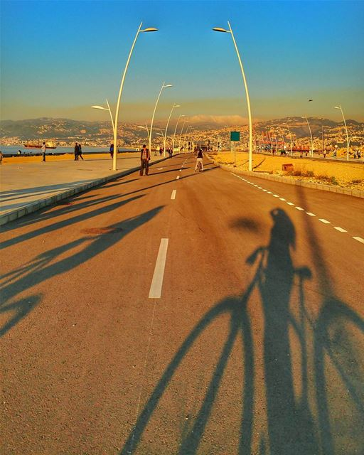 Sunset biking🌅 ......... lebanon super_lebanon lebanon_hdr ... (Beirut By Bike - Beil)