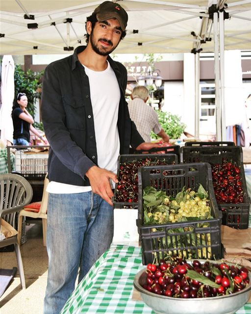 """""""Our cherries… they're one of a kind,"""" Hasan el Hosseini tells us, while..."""