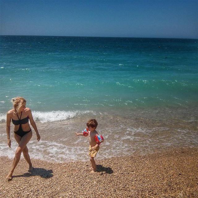 Summer MotherAndSon @vitalina.a Sea Sun Sand LiveLoveLebanon ... (Byblos - Jbeil)