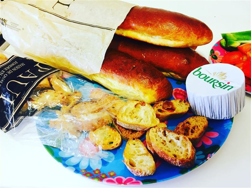 morning home chezpaul paullebanon bread breakfast breakfastlover... (El Saifi, Beyrouth, Lebanon)