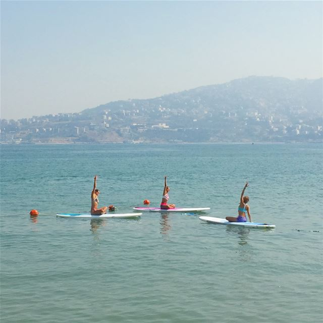Thursday, July 20, at 9a.m. SUP Yoga with Aurelie @ak_yoga_studio .Call... (Surf Shack Lebanon)