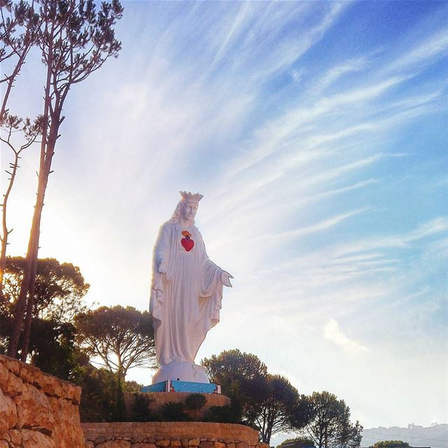 Our lady of fatima 🙏 lebanon nature naturelovers natureporn ... (El Qsaïbé, Mont-Liban, Lebanon)