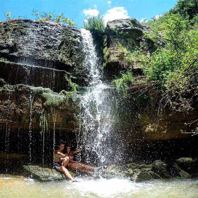 ...All You Need For Summer Is A ColdWaterfall , GreatCompay & Some ... (Faraya, Mont-Liban, Lebanon)