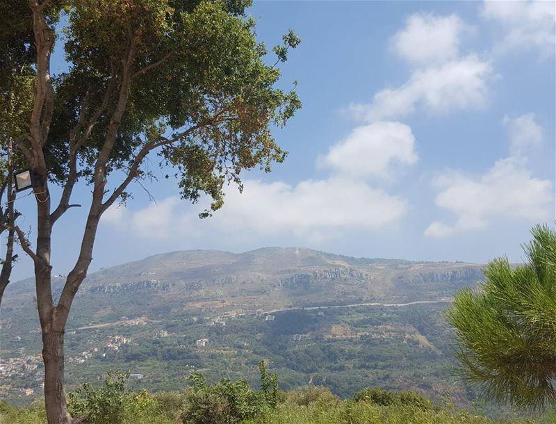 nature trees clouds mountains sky naturelovers picoftheday instapic... (Kafr Mattá, Mont-Liban, Lebanon)