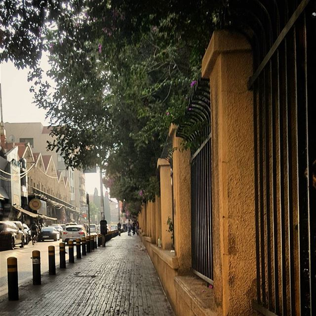 "The famous multi-generational ""Bliss Street"" ..Located in Beirut's heart � (Bliss Street)"