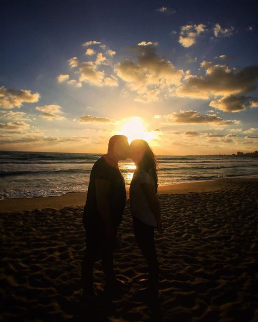 Tyre, Lebanon 👫❤️☀️.All you need is love, sunset and time to enjoy it!... (Tyre, Lebanon)