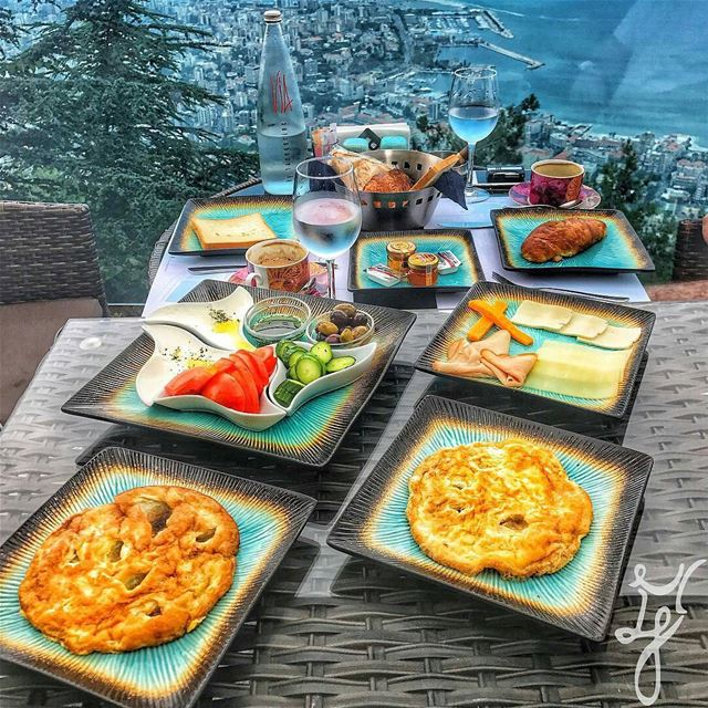 Good morning beautiful Lebanon! Repost @m.e.and.y.o.u - Breakfast views... (The Terrace - Restaurant & Bar Lounge)