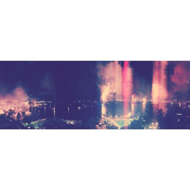 15 juillet - 22h35. 15juillet 2017 fireworks liban lebanon holidays... (Amwaj - Jounieh)