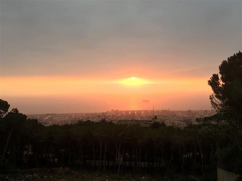 anothersunset redsky beautiful whataview lovelovelove horizon sun ...