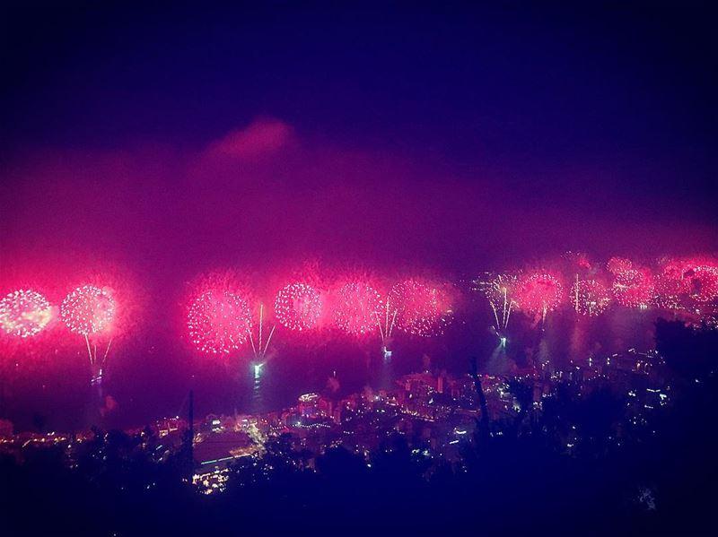 Jounieh Fireworks Festival livelovelebanon LifeWithAView lebanon ... (Jounieh International Festival)