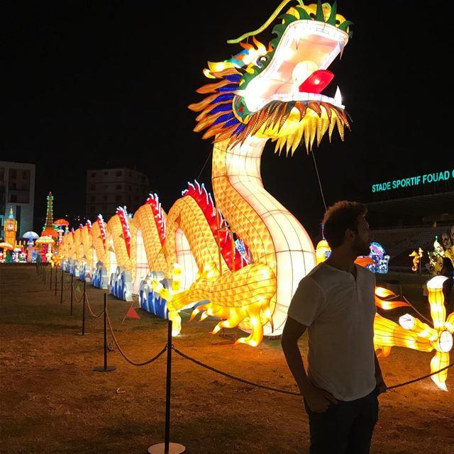 Hail 🔱 wonderlandcity lebanon jounieh jouniehsummerfestival dragon ... (Fouad Chehab- Jounieh)
