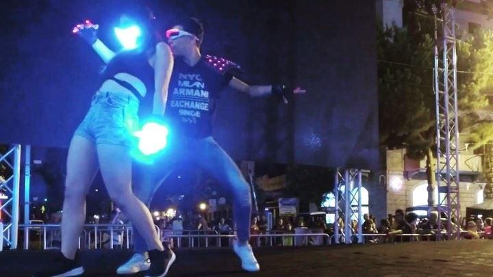 Jamais Vu team during @jouniehsummerfestival ! lasershow laserman ... (Jounieh Summer Festival)