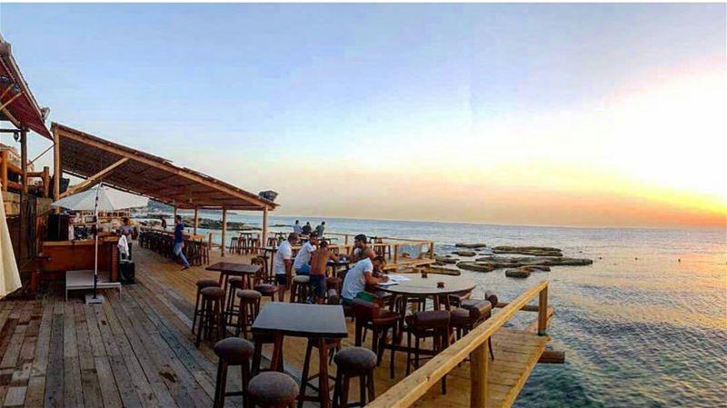 batroun kfarabida sunset danys beachbar restaurant batrounbeach ... (Danny's Bar)