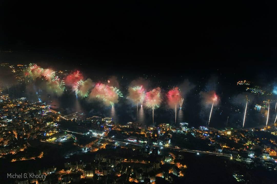L E B A N O N ❤Jounieh Fireworks @livelovejounieh @jounieh_international_f