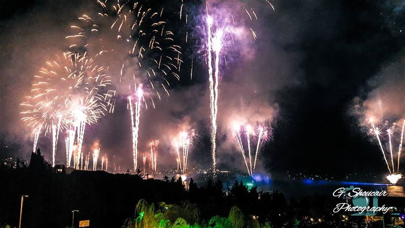 Jounieh International Festival Fireworks|🔴⚪⚪🌲⚪⚪🔴|... (Jounieh International Festival)