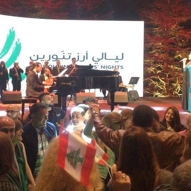 The lebanese dabkeh !!! tannourine lebanon tannourinefestival ... (Tannourine Cedars Nights ليالي أرز تنورين)