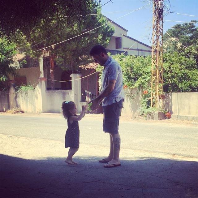 💕 Eva & Uncle Ali 💕 faves uncleali niece eva villagelife lebanon ... (Bebliyeh Jnoub)