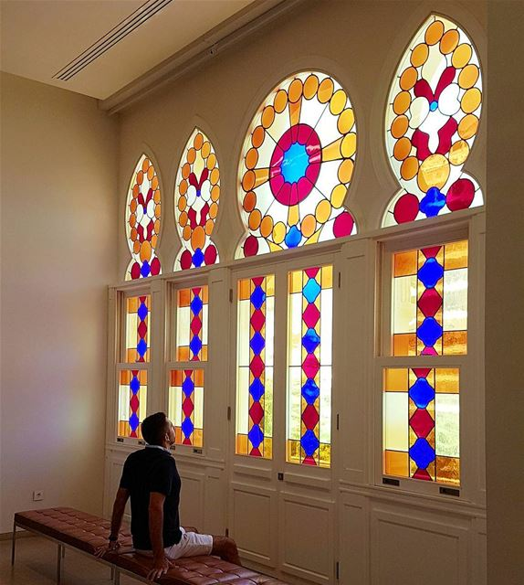 In nature, light creates the color. In the picture, color creates the... (Sursock Museum)