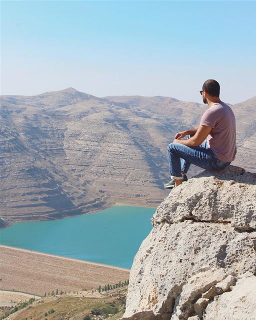 An amazing spot overlooking Chabrouh Lake! 💙 (Faraya, Mont-Liban, Lebanon)