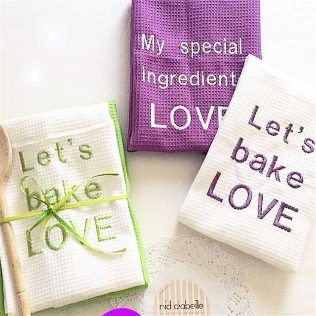 All you need is LOVE 🌈 set of kitchen towels😋 Write it on fabric by nid...