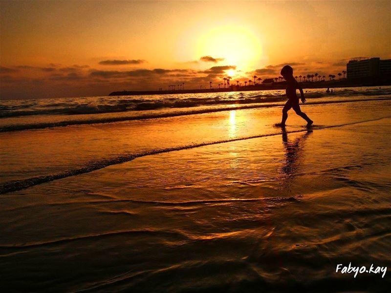 sunset sunsetporn skylovers ig_lebanon nature style soliel sunsetlovers... (Ramlet Al Bayda Public Beach)